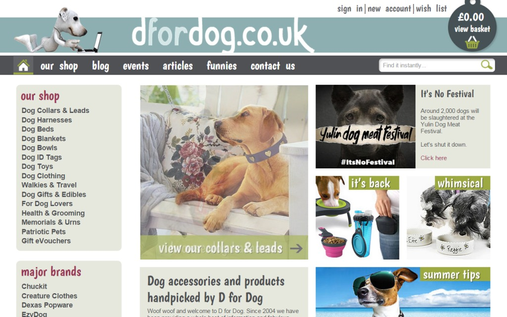 Dog Products Accessories Gifts UK Online D for dog sellingonlinetoday