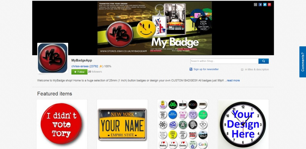 mybadgeapp ebay ecommerce sellingonlinetoday