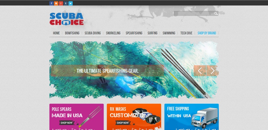 Scuba Choice Scuba Diving Spearfishing Snorkeling Surfing Equipment Gear Accessories